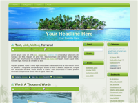 WP Theme - Palm Tree Island