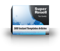 500 Instant Templates Articles