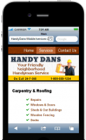 Handy Dan Mobile Site Template