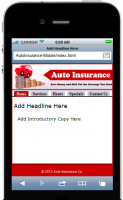 Auto Insurance Mobile Site Template