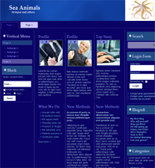 Sea Animals Website Templates