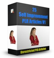 25 Self Improvement PLR Articles...