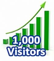 1000 Visitors In One Month