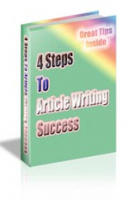 4 Steps To Article Writing Succe...