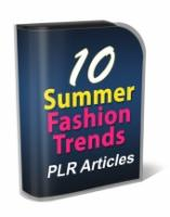 10 Summer Fashion Trends PLR Art...
