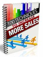 100 Techniques To Increase Sales...