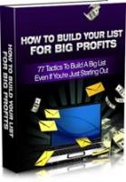 How To Build Your List For Big P...