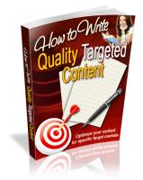 How To Write Quality Targeted Co...