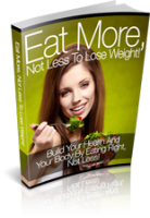 Eat More Not Less To Lose Weight...