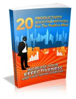 20 Productivity Boosting Methods...