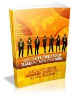 How To Effectively Build Teams A...