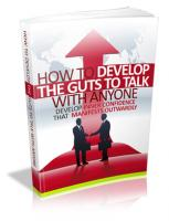 How To Develop The Guts To Talk ...