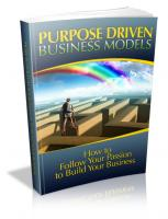 Purpose Driven Business Models