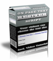 On Page Text Resizer Script