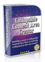 Collapsible Content Area Creator...