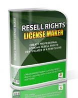 Resell Rights License Maker