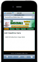 Baseball Shop Mobile Site Templa...