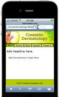 Cosmetic Dermatology Mobile Site...