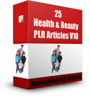 25 PLR Health & Beauty Articles ...
